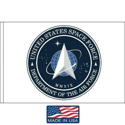 Image of Us Space Force Flag White Printed Dacron Made In Usa 5X8 / Single Sided