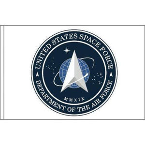 US Space Force Flag White Printed Dacron Made in USA