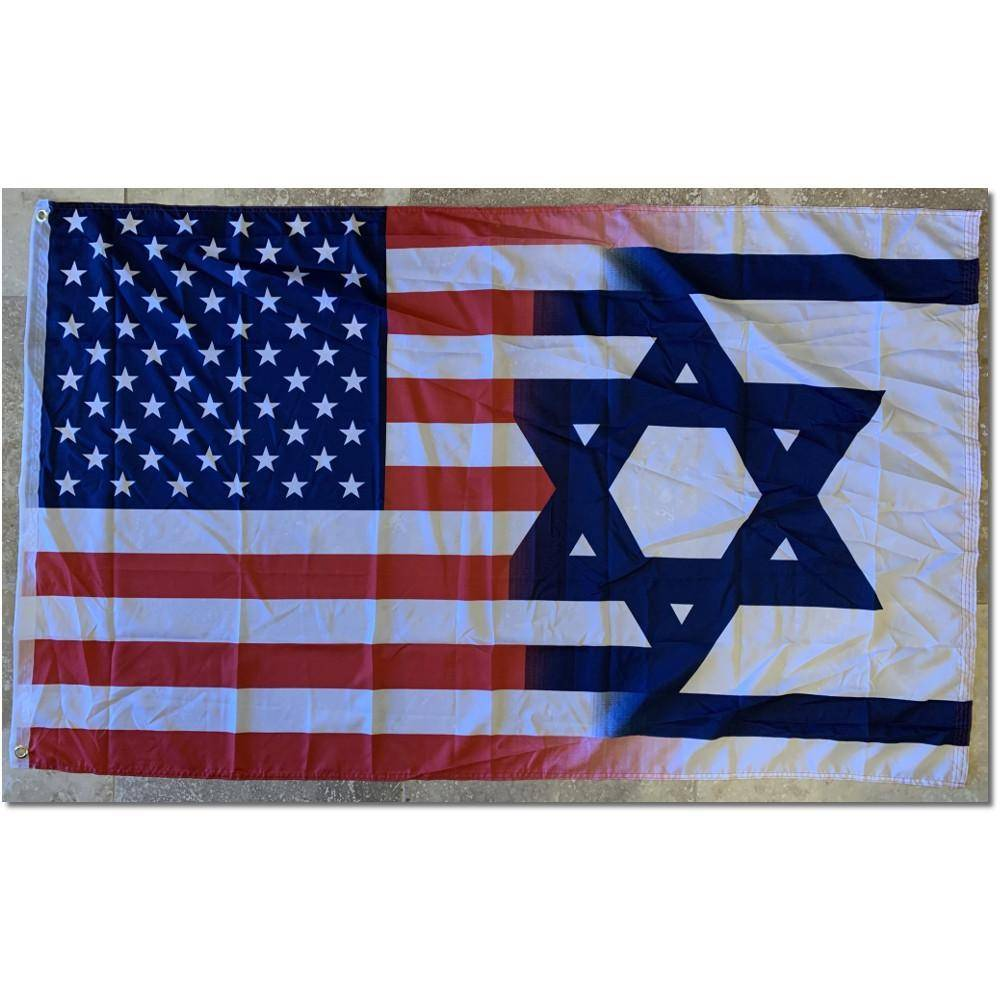 Usa Israel Flag- Outdoor Commercial 2 Ply Nylon Flag