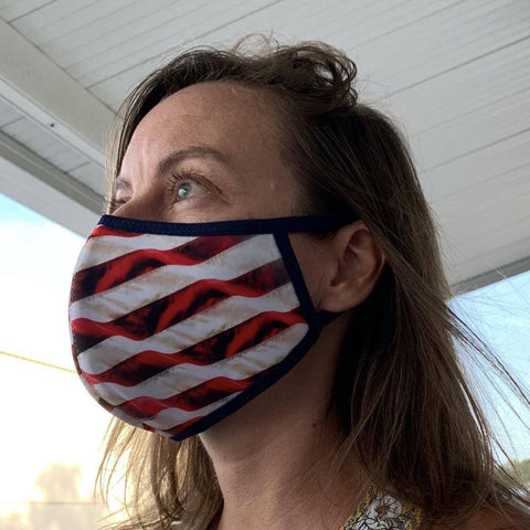 Image of Usa Flag Face Mask Keep America Great