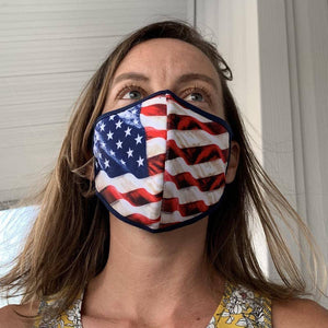 Usa Flag Face Mask Keep America Great