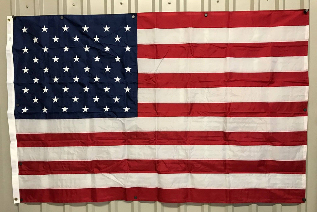 50 Star USA Nylon Embroidered Sewn Stripes Flag 4 x 6 ft.  (Made in America) (On Special)