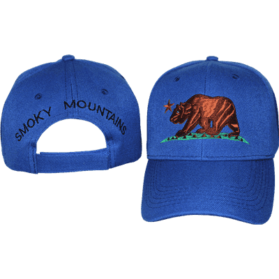vendor-unknown Additional Flags Bear Smoky Mountains Blue Cap