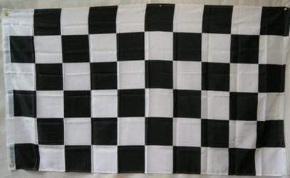vendor-unknown Additional Flags Black and White Checkered 4 x 6 Ft. Auto Racing Flag