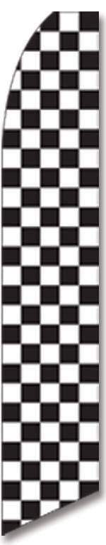 vendor-unknown Additional Flags Black and White Checkered Advertising Flag (Complete set)