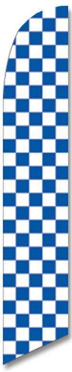 vendor-unknown Additional Flags Blue and White Checkered Advertising Banner (Complete set)
