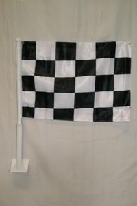 vendor-unknown Additional Flags Checkered Double Sided Car Flag