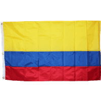 vendor-unknown Additional Flags Colombia Nylon Embroidered 3 X 5 ft.