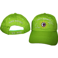 vendor-unknown Additional Flags Conch Republic Lime Green Washed Cap