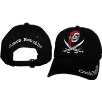 vendor-unknown Additional Flags Conch Republic on Brim Pirate Washed Cap