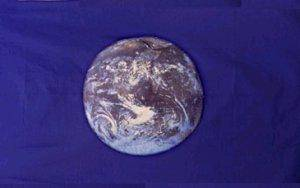 RU Additional Flags Earth Flag (Blue) NASA photo Flag 12 x 18 inch on Stick