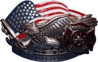 vendor-unknown Additional Flags Fire Fighter Hero Belt Buckle