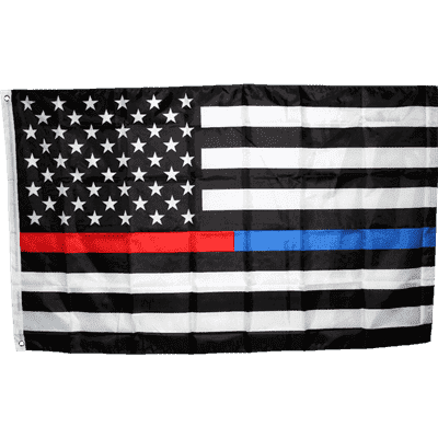 vendor-unknown Additional Flags First Responders Fully Sewn Nylon Flag 3' X 5'