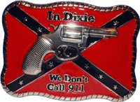 vendor-unknown Additional Flags In Dixie We Don't Call 911 Retangular Belt Buckle