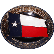 vendor-unknown Additional Flags Texas Don't Mess With Texas Belt Buckle