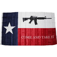 vendor-unknown Additional Flags Texas M4 Come & Take It 3 X 5 ft. Double Nylon Embroidered