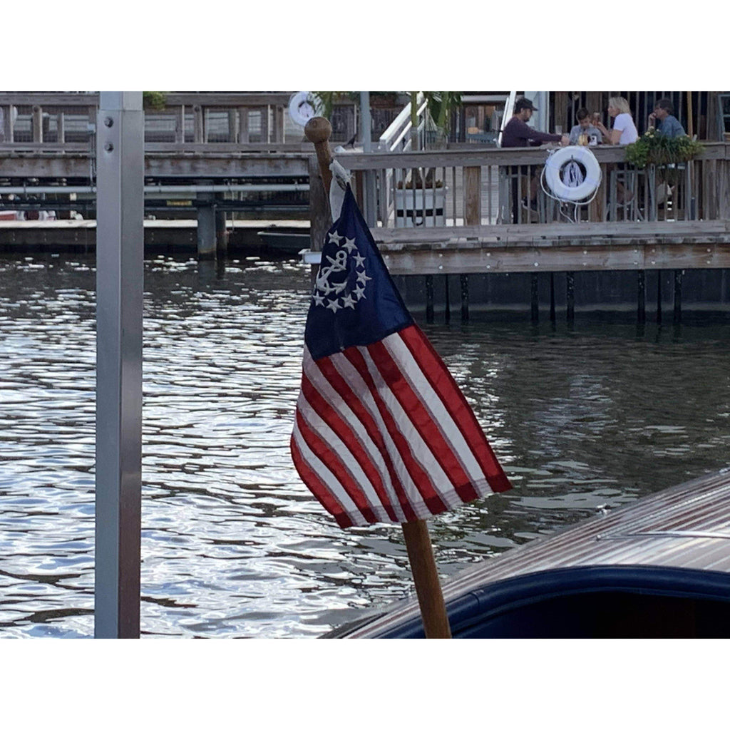 vendor-unknown Additional Flags U.S. Yacht Ensign Fully Sewn Nylon Flag 3' x 5' (USA MADE)