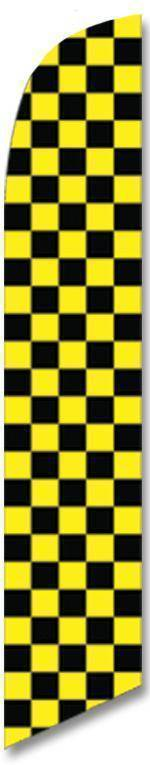 vendor-unknown Advertising Flags Black and Yellow Advertising Banner (Complete set)