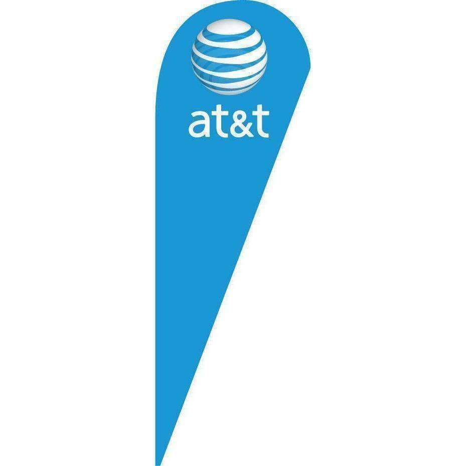vendor-unknown Advertising Flags Blue At&t Blade Teardrop Advertising Flag (Set)