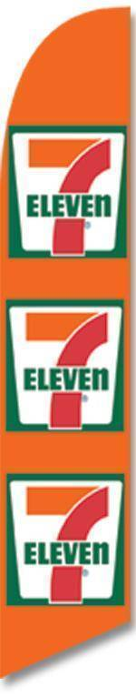 vendor-unknown Advertising Flags Orange Triple 7 Eleven Advertising Banner (Complete set)