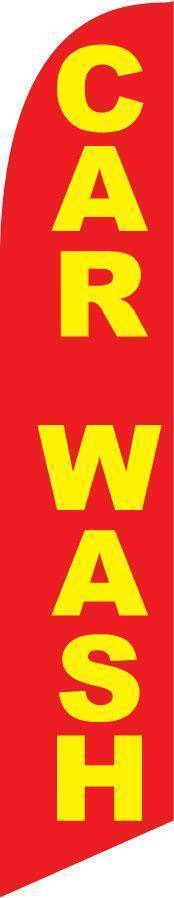 vendor-unknown Advertising Flags Red And Yellow Car Wash Advertising Banner (Complete set)