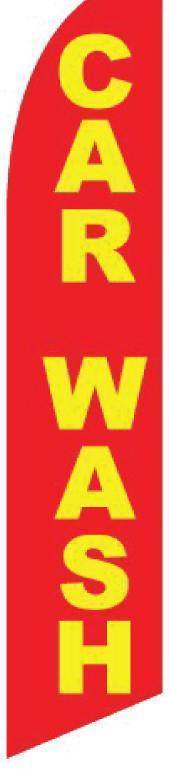 vendor-unknown Advertising Flags Red And Yellow Car Wash Advertising Flag (Complete set)