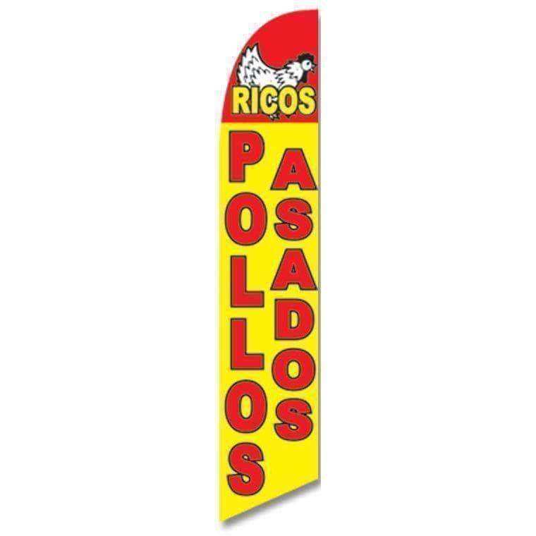 vendor-unknown Advertising Flags Ricos Pollos Asados Advertising Banner (Complete set)