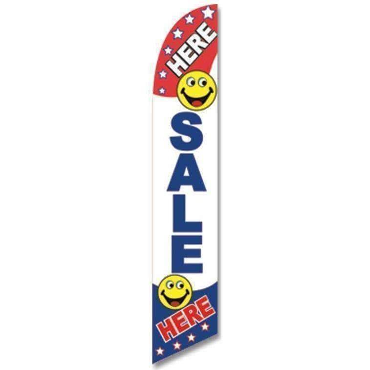 vendor-unknown Advertising Flags Sale Here Advertising Banner (Complete set)