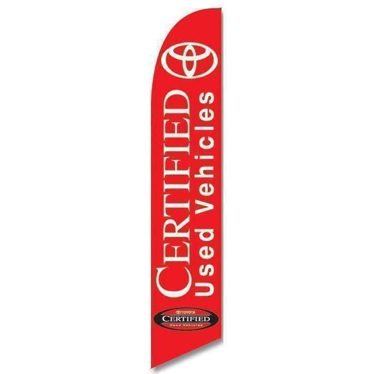 vendor-unknown Advertising Flags Toyota Certified Used Vehicle Advertising (Complete set)