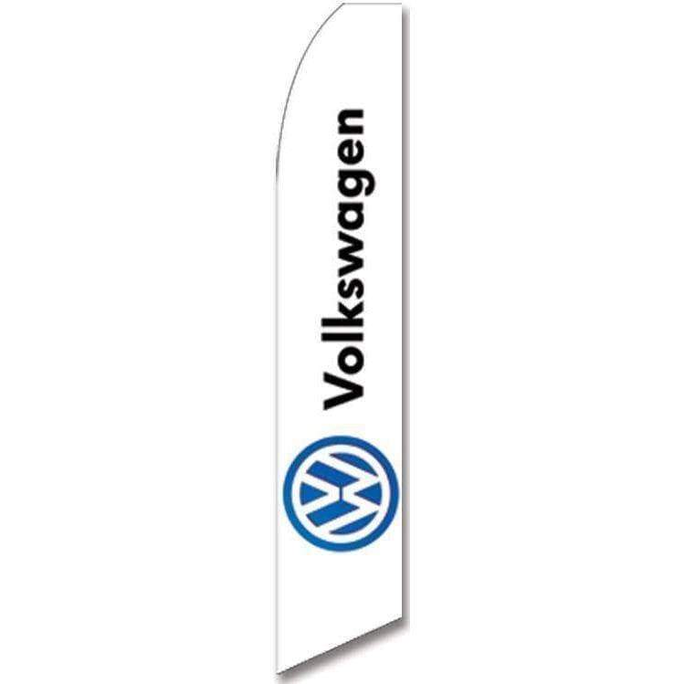 vendor-unknown Advertising Flags White Volkswagen Advertising Flag (Complete set)