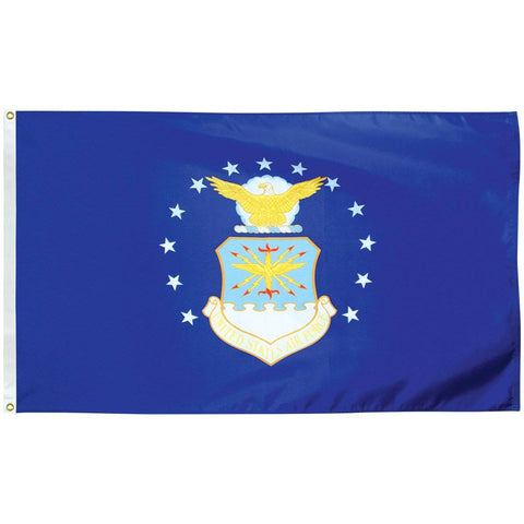 Air Force Flag -Outdoor - Commercial - 2x3,3x5,4x6,5x8,6x10 -. Nylon Dyed (USA Made)