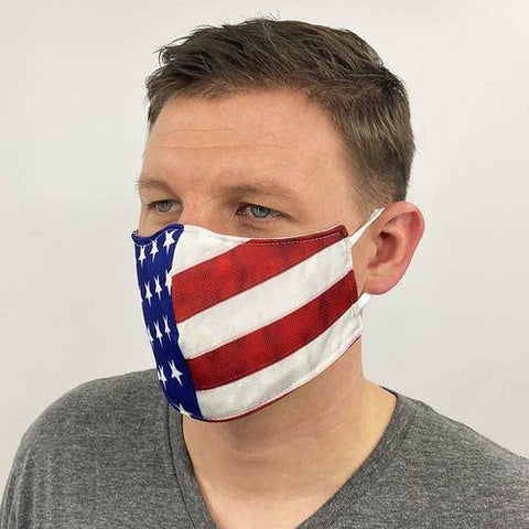 Image of American Flag Face Mask Made in USA