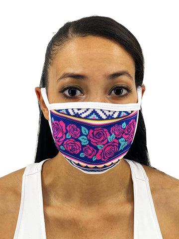 Image of Snakes And Roses Face Mask With Filter Pocket