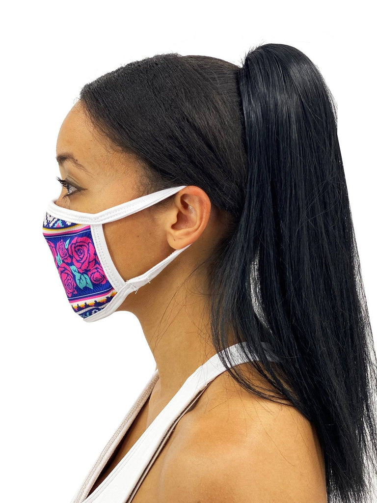 Snakes And Roses Face Mask With Filter Pocket
