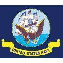 US Navy 3 x 5 Poly-Cotton With Brass Grommets Flag (USA Made)