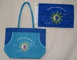 vendor-unknown Beach Bag Conch Republic Logo - Key West - Beach Bag