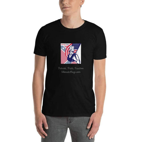 Image of Ultimate Flags Black / S Ultimate Flags Logo Short-Sleeve Unisex T-Shirt Patriots, Pride, Freedom