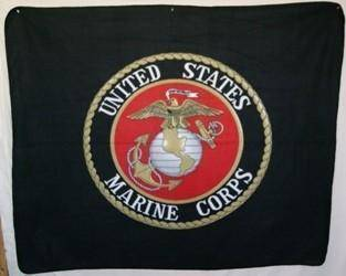 vendor-unknown Blanket Black Marine Corps 50 x 60 Inch Fleece Blanket