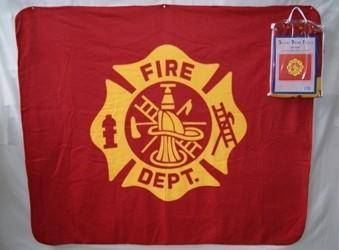 vendor-unknown Blanket Deluxe Polar Fleece - Fire Dept - 50 x 60 inches - Clearance