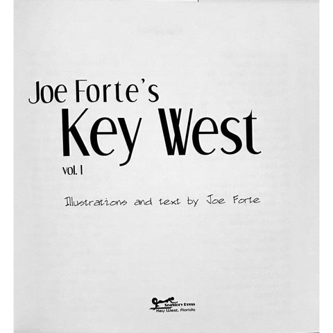 Image of Joe Forte Book First Joe Forte's Key West Volume I Hardbound, with 2x3 ft flag - Conch Republic - Key