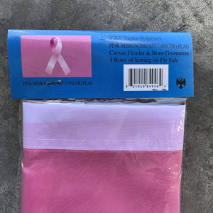 Breast Cancer Awareness Ribbon Flag 3x5 ft. Standard