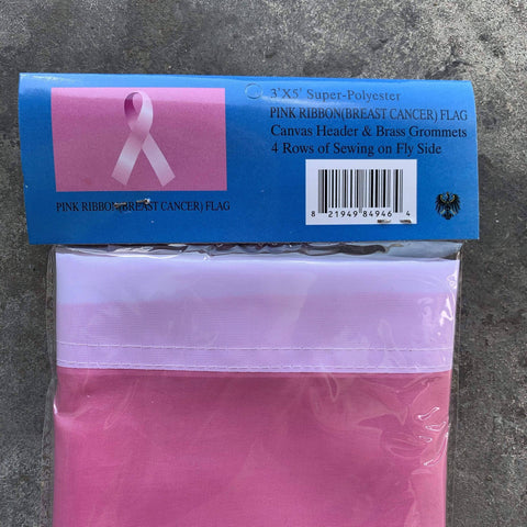 vendor-unknown Breast Cancer Awareness Breast Cancer Awareness Ribbon Flag 3 X 5 ft. Standard