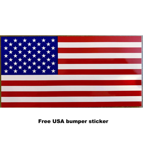 RU Bumper Sticker Single USA Flag bumper sticker