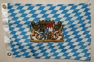 vendor-unknown Cities And Provinces Bavaria with Crest Flag 12 x 18 inch with grommets
