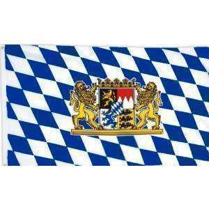 vendor-unknown Cities And Provinces Bavaria With Lion Flag (German State Flag) 3 X 5 ft. Standard