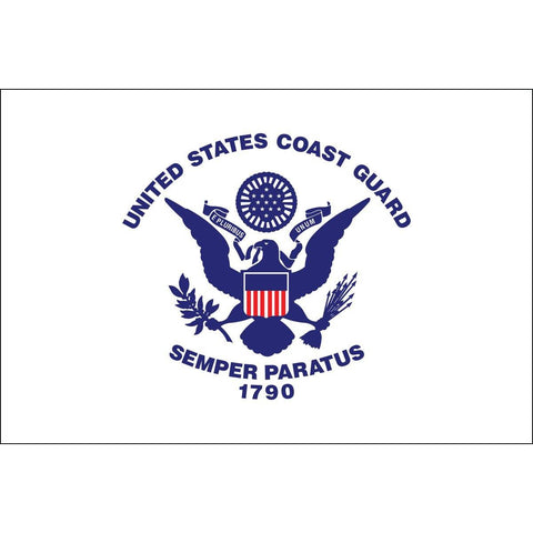 Coast Guard Flag - Outdoor - Commercial - All Sizes - Nylon (Made in USA)
