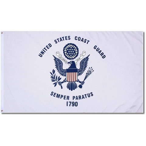 Coast Guard Nylon Embroidered Flag 3X5 Ft