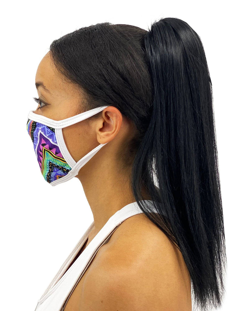 Colorful Aztec Face Mask With Filter Pocket Womens Clothing