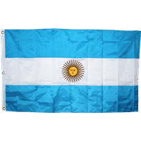 vendor-unknown Country & National Flags Argentina  Nylon Embroidered 3 X 5 ft.