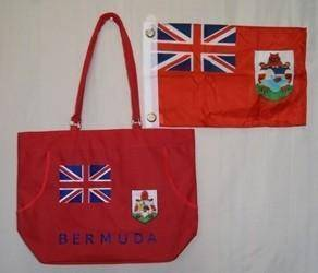 vendor-unknown Country & National Flags Bermuda Beach Bag
